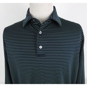 FootJoy XL Long Sleeve Golf Polo Shirt Striped